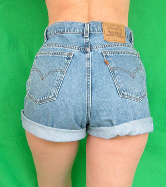 shorts levi vintage highwaisted denim shorts rolled cuffs