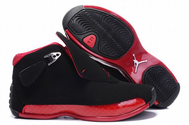 buy jordan 18 black red for women
