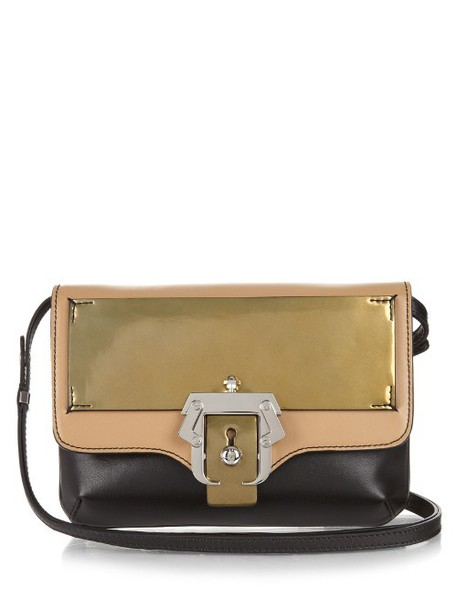 PAULA CADEMARTORI cross bag leather gold black