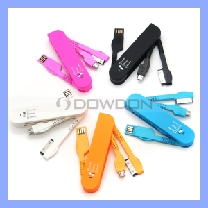 [Hot Item] Folding Pocket Knife USB Multi 3 in 1 Charger for iPhone 5/5s/4s Samsung