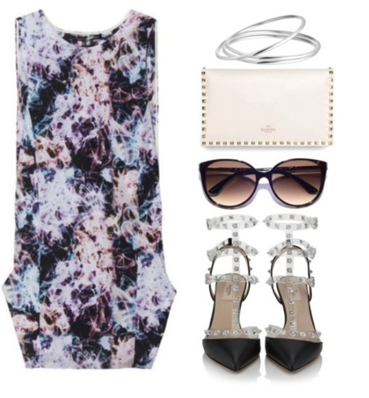 bangles shoes bag dress sunglasses
