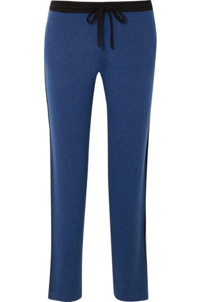Allude pants track pants blue
