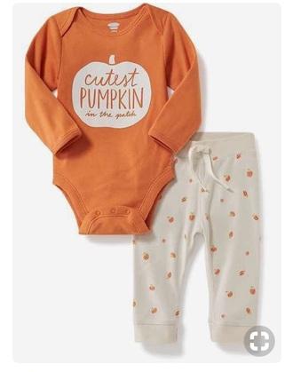 romper pumpkin onesie fall outfits