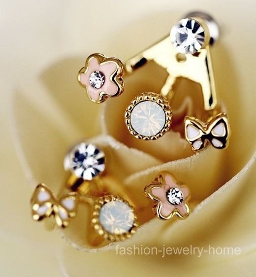 A Pair Korean Style Lovely Flower Earrings Stud Earring | eBay