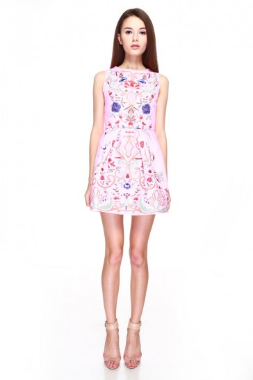 Arnetta Printed Dress in Pink - ChocoChips Boutique