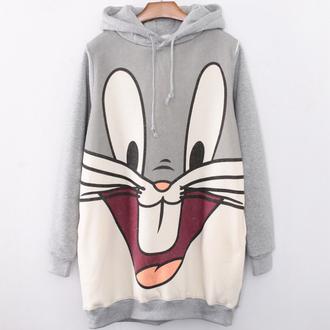 sweater hoodie fashion cool bugs bunny