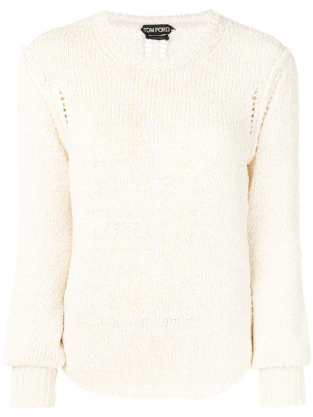 Tom Ford jumper women spandex nude cotton sweater