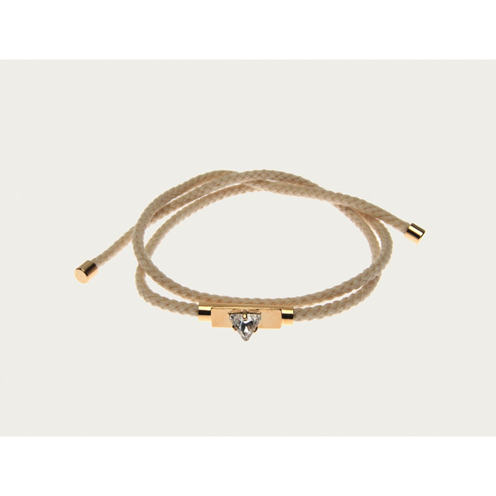 Sabrina Dehoff - Mini Triangle Wrap Bracelet Cream - Otiumberg