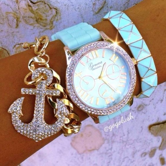 jewels watch blue light blue