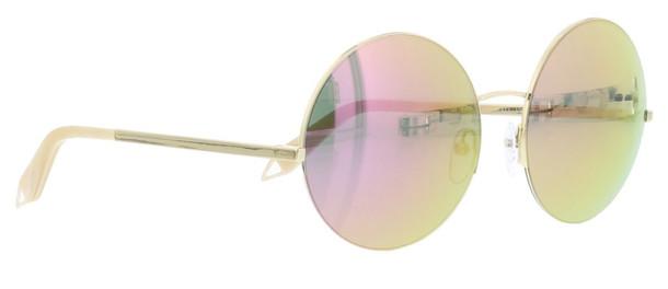 Victoria Beckham Supra Round Sunglasses in rose