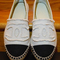 Chanel canvas espadrille flats in white - avenue k