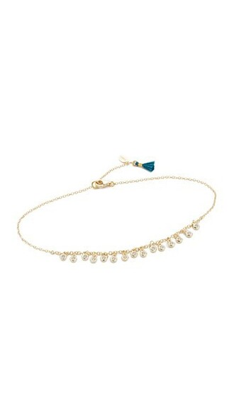 clear anklet gold jewels
