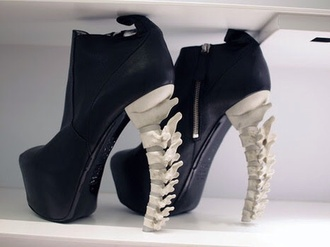 platform shoes high heels shoes black skeleton