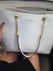 bag,purse calvin klein white gold,purse,calvin klein,white purse,handbag,chain bag
