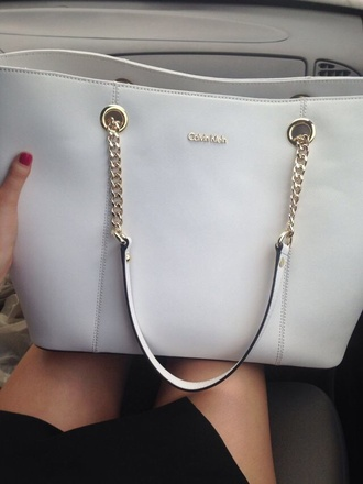 bag purse calvin klein white gold purse calvin klein white purse handbag chain bag