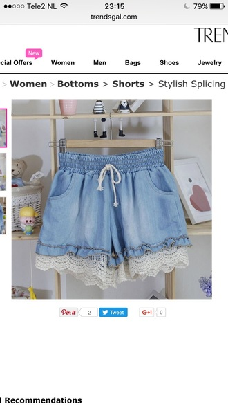 shorts denim fashion style trendy girly cute kawaii summer teenagers trendsgal.com