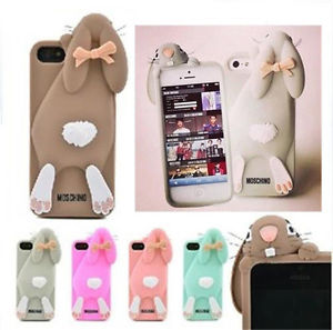 For Apple iPhone 5 5S 5c 4 4S Moschino Rabbit Cute 3D Silicone Back Cover Case | eBay