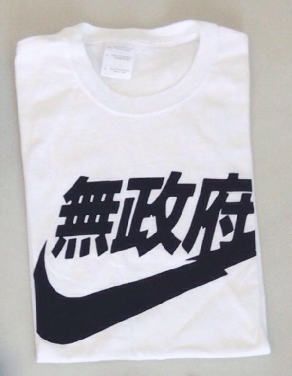 t-shirt japanese japan china chinese nike shirt