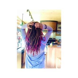 hair accessory purple spray belt gloves