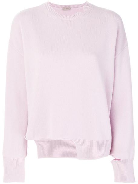 MRZ sweater women wool purple pink