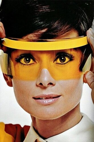 sunglasses audrey hepburn yellow fluo