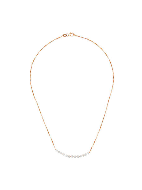 Anita Ko rose gold rose women necklace diamond necklace gold grey metallic jewels