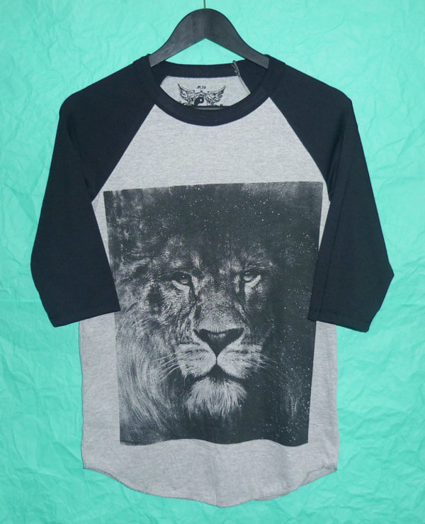 lion fashion style rock country blouse t-shirt baseball tee baseball baseball shirt baseball style lion shirt movie movie shirt movie t shirt raglan raglan t-shirt raglan tee raglan tshirt raglan sweater 3/4 sleeve 3/4 sleeves t shirt print crewneck crewneck animal animal print animal shirt animal tees teen man teenagers fashion clothing gym clothes raglan sleeve dress grey grey t-shirt lion king teenagers