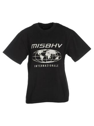 t-shirt shirt printed t-shirt silver black top