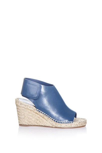 sandals espadrilles wedge sandals blue shoes