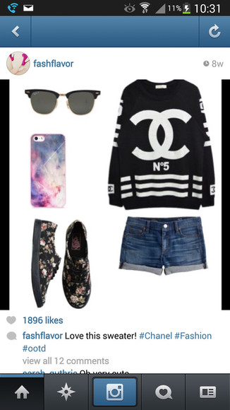 shirt chanel t-shirt shoes