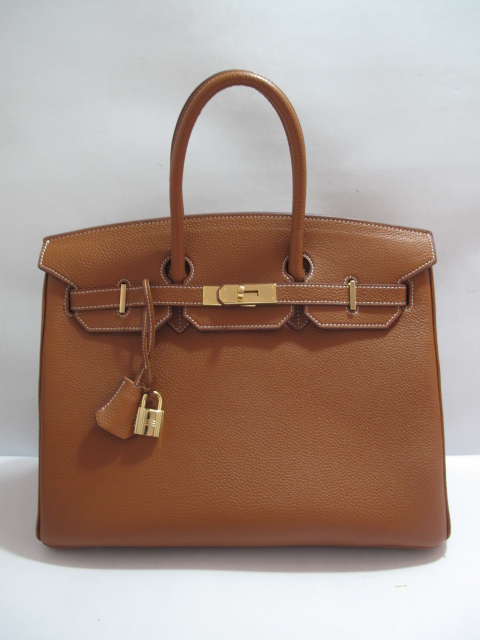 hermes birkin tan with gold hardware [35 clemence tanw gold] - $395.25 USD : Baga-holics.comBuy Designer Handbags, Fendi Bags, Hermes Birkin Bag, Louis Vuitton Bag, Chanel, Gucci, Mulberry, Proenza, Prada, Miu Miu Bags Online