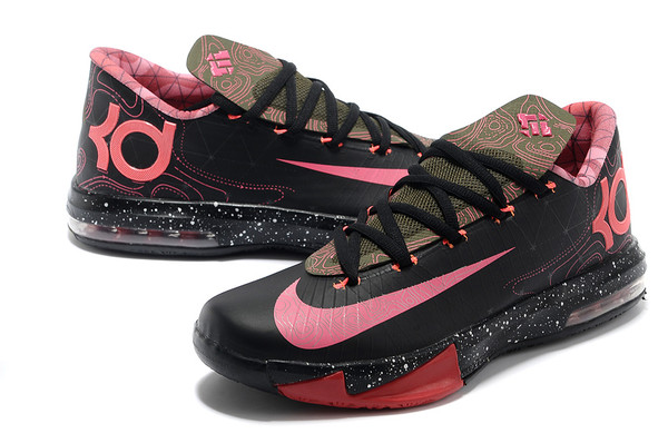 shoes kds kevin durant nike pink black