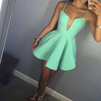 dress mint dress pinterest instagram tumblr outfit tumblr tumblr girl tumblr clothes style summer dress spring dress spring skater dress summer outfits sexy dress