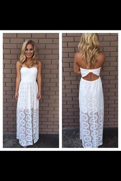 dress white dress tribal pattern