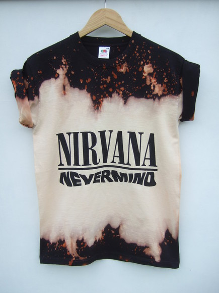 nirvana tie dye grunge acid wash