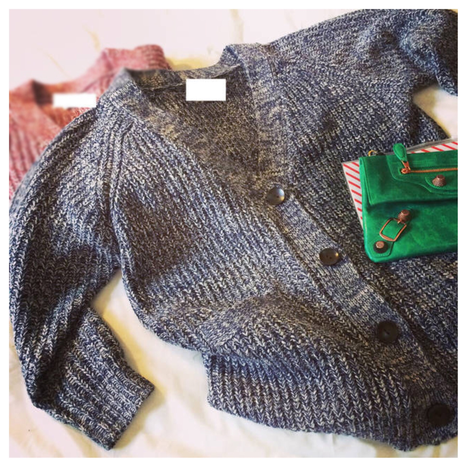 Knitted oversized cardigan with pockets from doublelw on storenvy