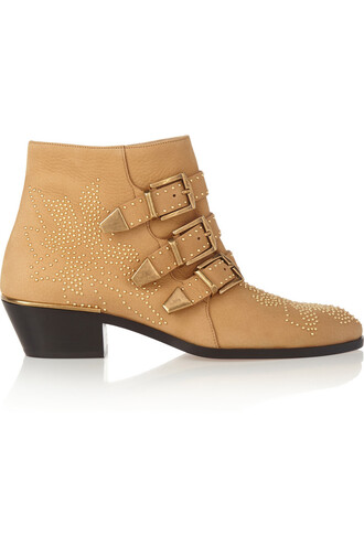 leather ankle boots studded boots ankle boots leather camel shoes