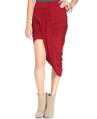 Free People Ruched Asymmetrical Skirt - Skirts - Women - Macy's