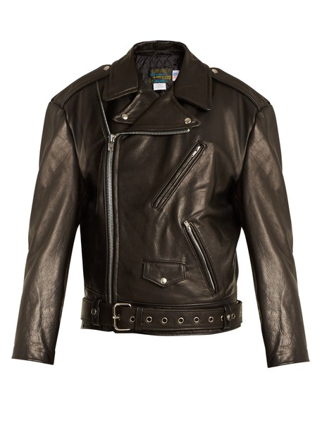 jacket perfecto leather jacket oversized leather black