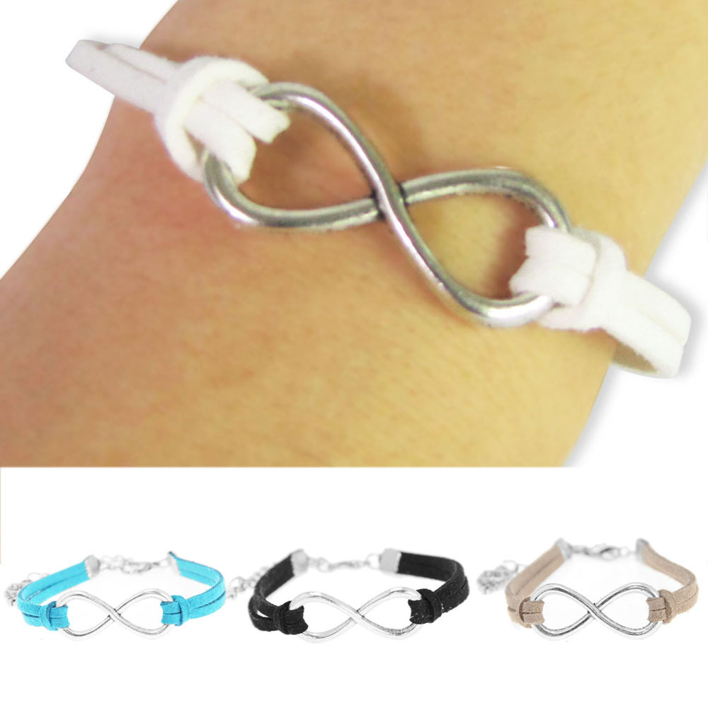 Aliexpress.com : Buy 10 PCS Handmade Charm DIY Infinity beads & Leather Alloy White Blue Black Brown Cord adjustable Bracelet Bangle Free Shipping from Reliable bangle bracelet gold suppliers on Shenzhen Gache Trading Limited