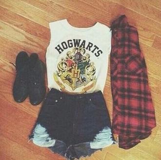 t-shirt girl harry potter hogwarts fashion