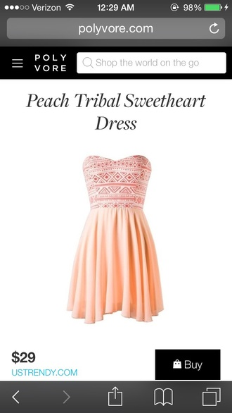 dress aztec peach dresses mini dress fashion style summer dress girly dress
