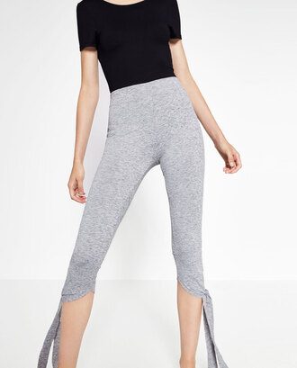 leggings ballet zara cropped pants