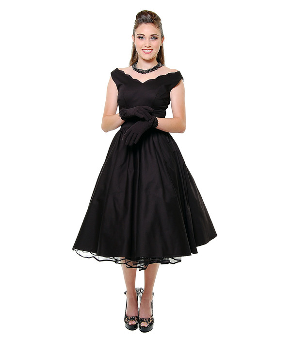 50s style 50s style 50s dress black dress party dress swing dress vintage retro elegant