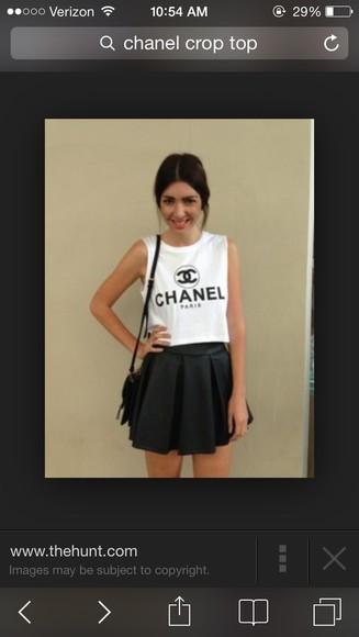 chanel chanel t-shirt top chanel logo