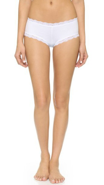 Hanky Panky Cotton With A Conscience Boy Shorts - White