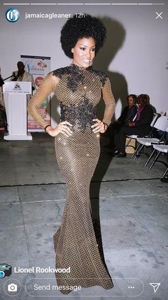dress davina bennett miss universe  jamaica