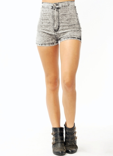 Acidic-High-Waisted-Shorts GREY - GoJane.com