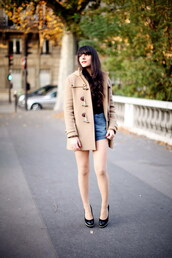 beige,duffle coat,the cherry blossom girl,alix,coat