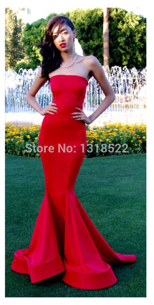 Aliexpress.com : Buy Elegant Simple Strapless Mermaid Prom Dresses ...